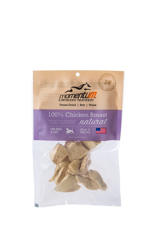 Momentum Freeze-Dried Chicken Breast for Dogs & Cats, 1-oz bag