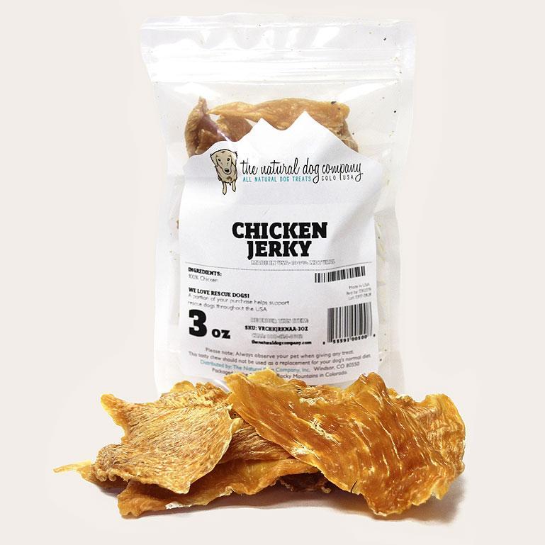 The Natural Dog Company USA Chicken Jerky Dog Treats, 3-oz