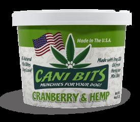 Cani Bits Cranberry Dog Treats, 4-oz