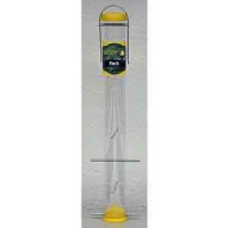 Nature's Select Finch Tube Bird Feeder, Yellow, 23-in