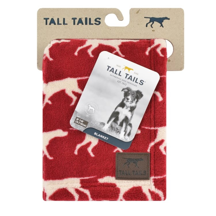 Tall Tails Red Icon Fleece Dog Blanket, 30-in x 40-in