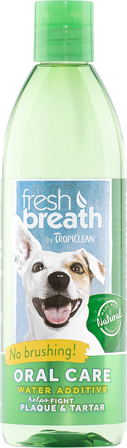 TropiClean Fresh Breath Water Additive, 16-oz bottle