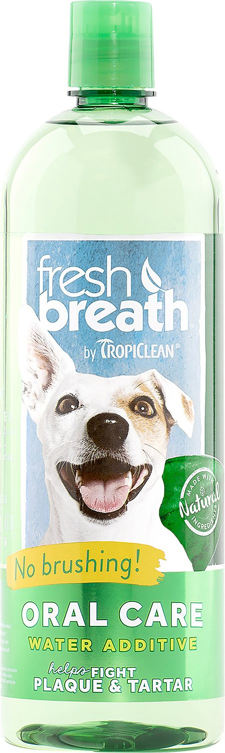 TropiClean Fresh Breath Water Additive, 33.8-oz bottle