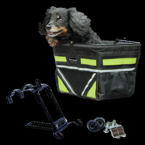 Travelin K9 2018 Pet-Pilot Bike Basket for Dogs & Cats, Neon Green