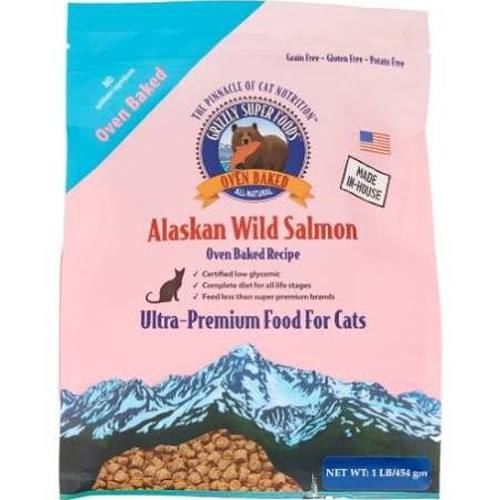 Grizzly Super Foods Wild Alaskan Salmon Oven-Baked Cat Food
