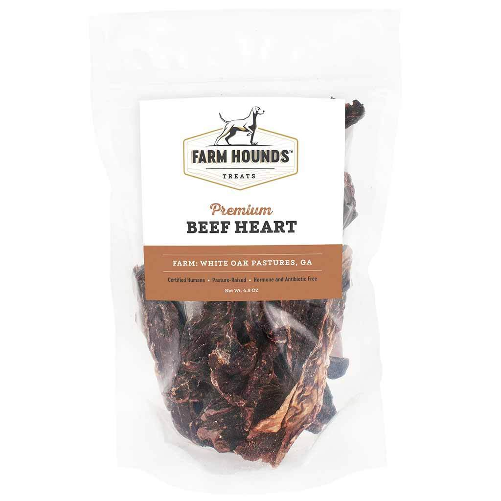 Farm Hounds Premium Beef Hearts Dog Treats, 4.5-oz