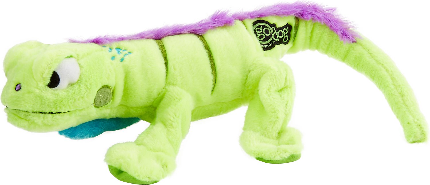 GoDog Amphibianz Chew Guard Iguana Dog Toy
