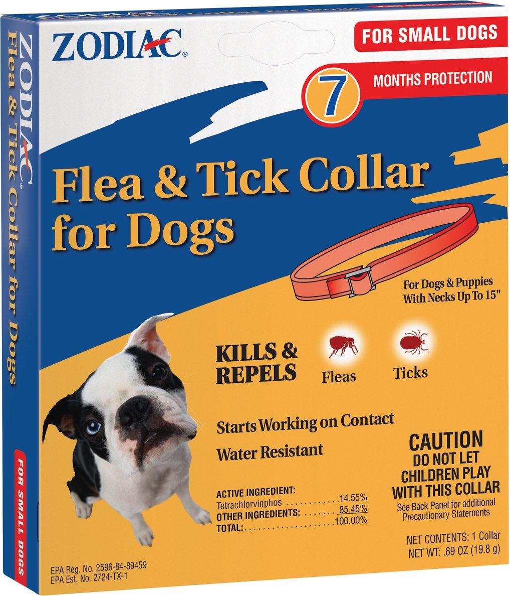 Zodiac Flea & Tick Collar for Small Dogs, 15-in