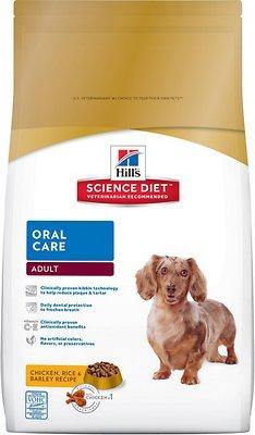 Hill's Science Diet Adult Oral Care Dry Dog Food, 28.5-lb bag