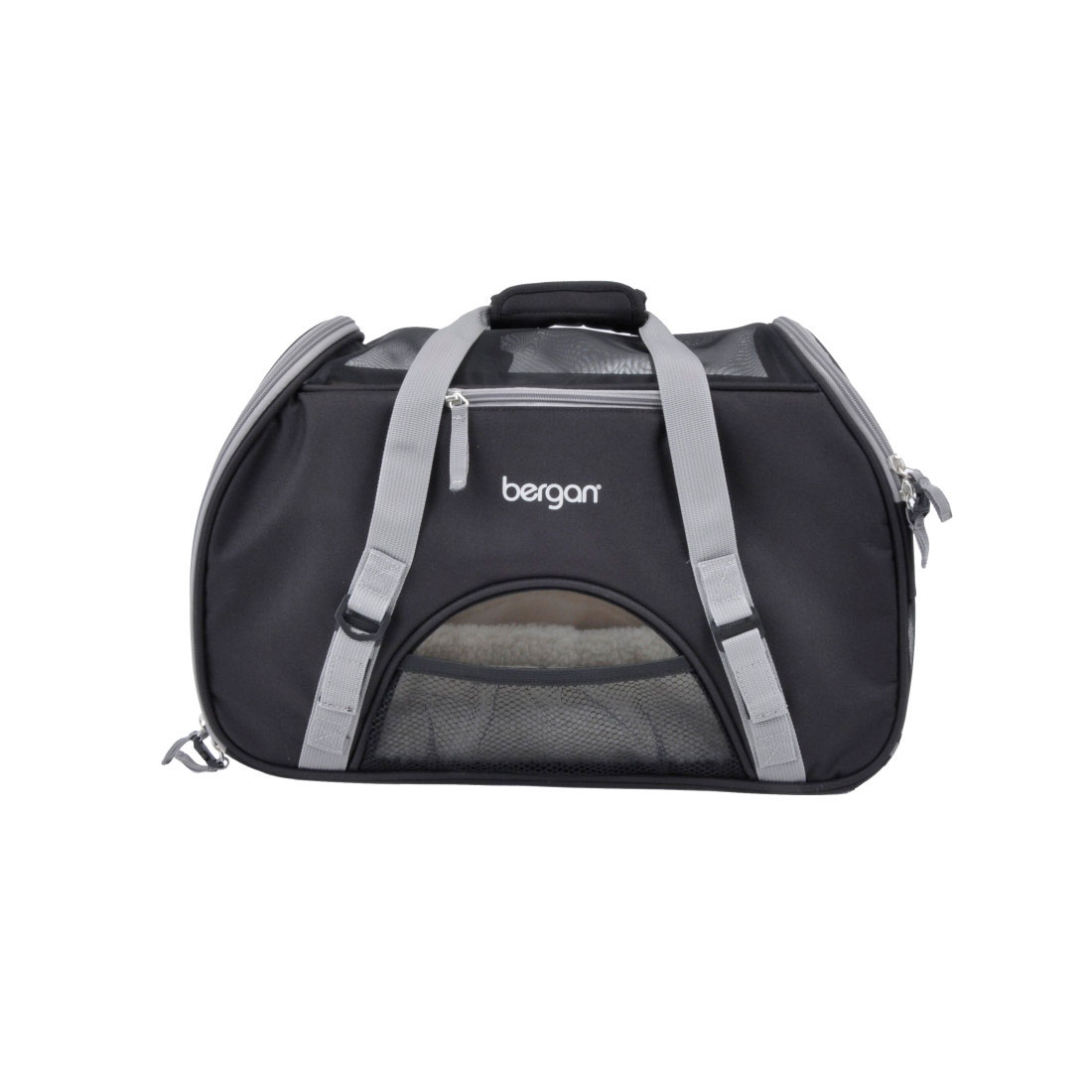 Bergan Comfort Pet Carrier, Black/Grey, Large