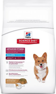 Hill's Science Diet Adult Advanced Fitness Small Bites Lamb Meal & Rice Dry Dog Food, 4.5-lb bag