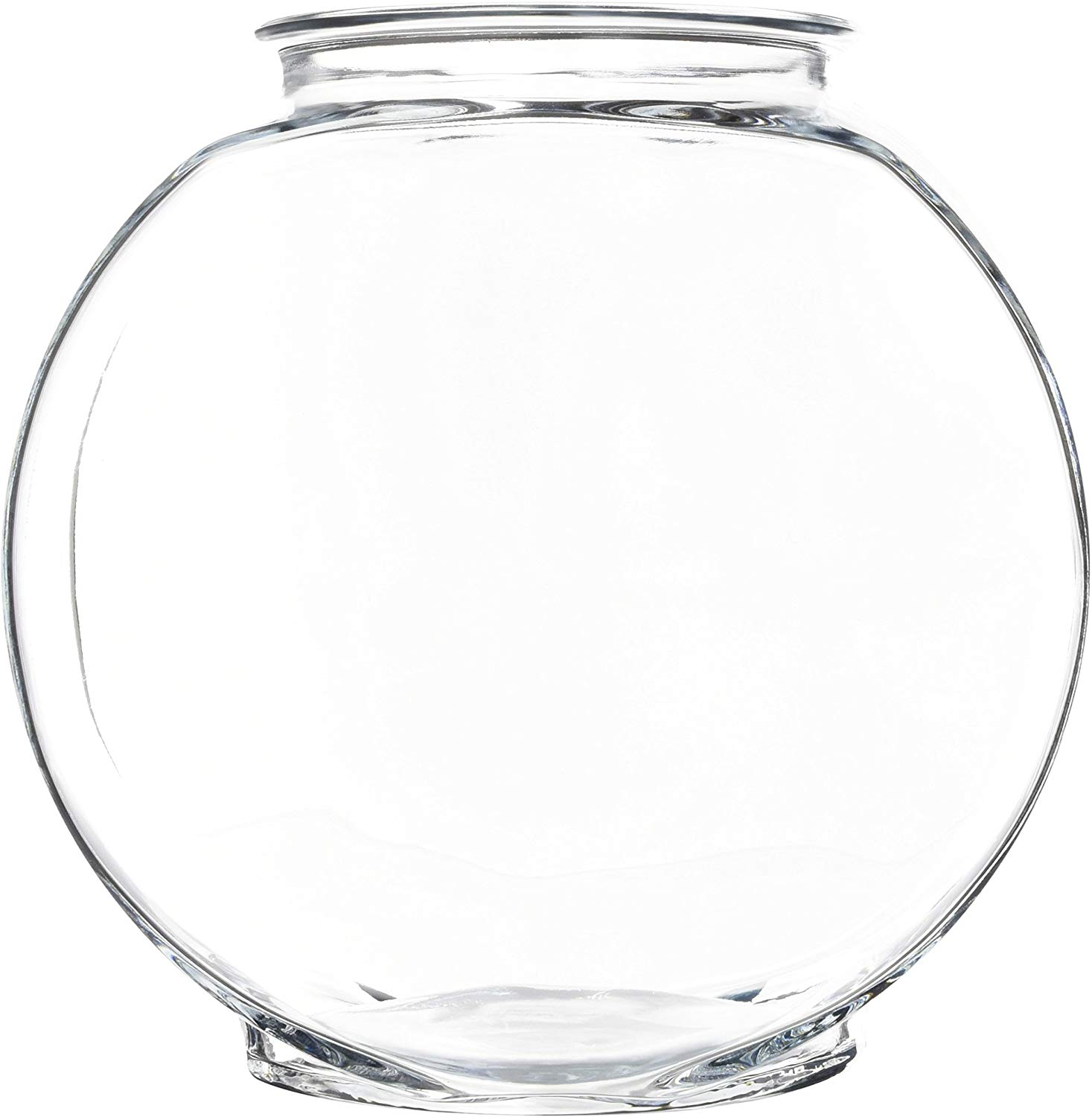 Anchor Hocking Drum Glass Golfish Bowl, 1-gallon
