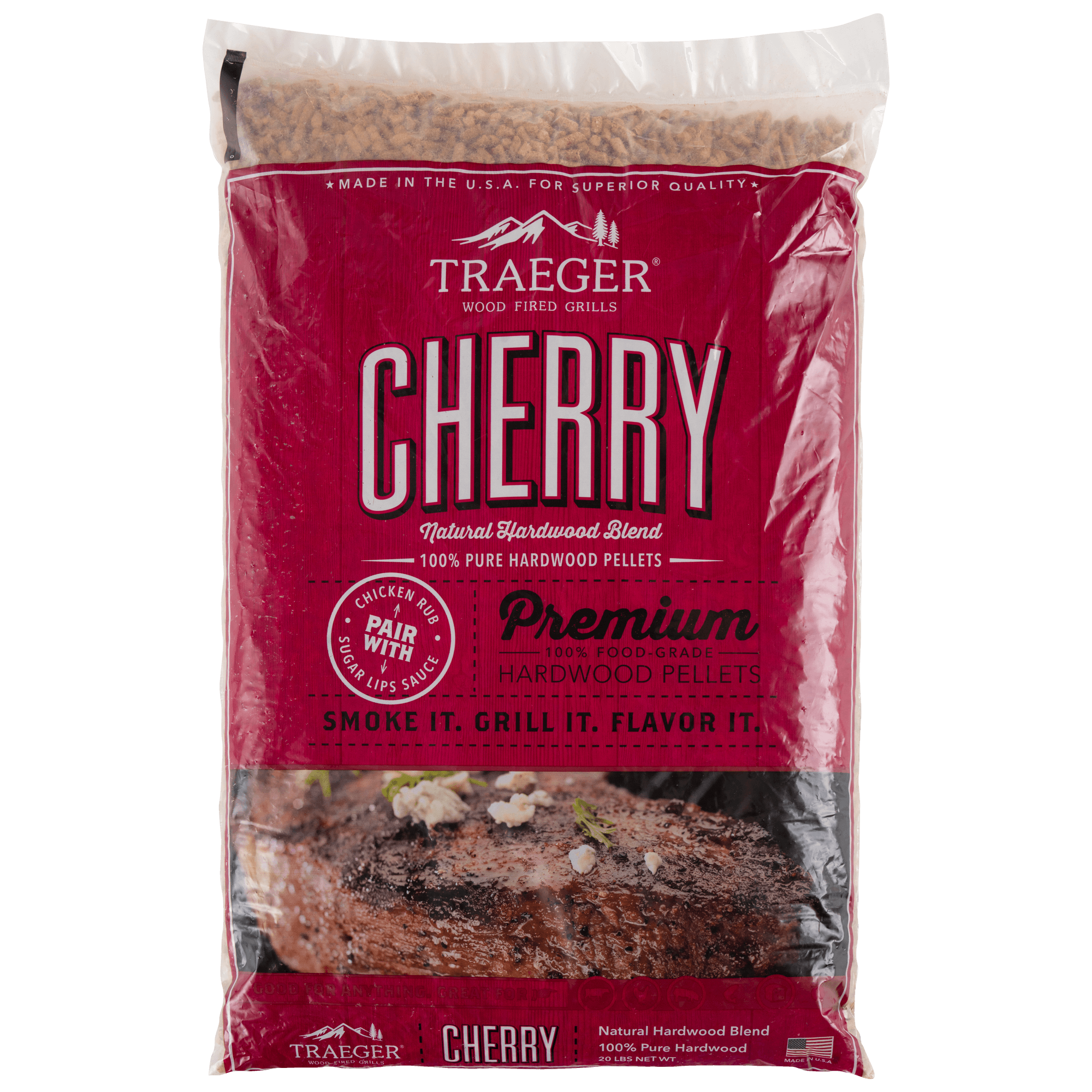 Traeger Cherry BBQ Wood Pellets, 20-lb