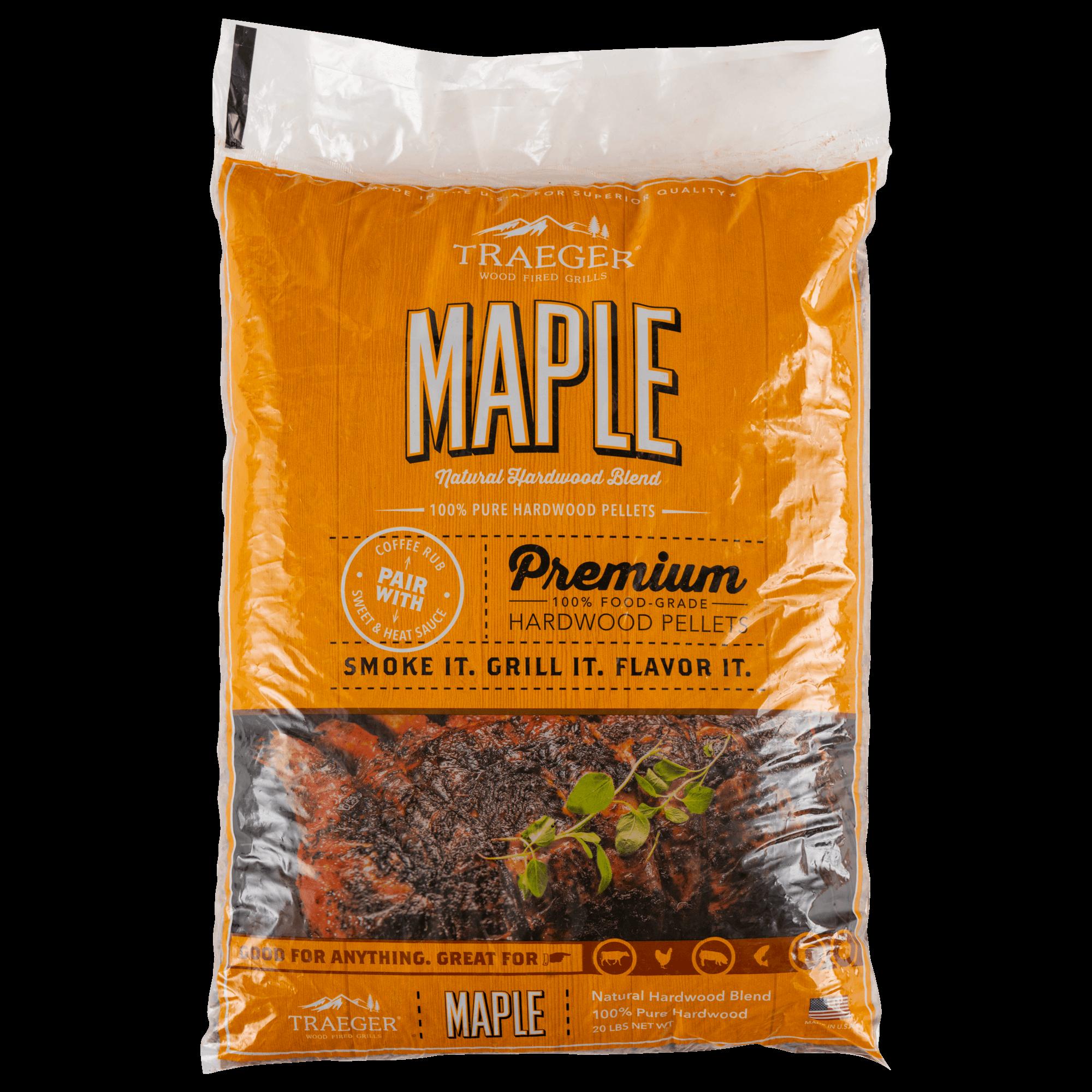 Traeger Maple BBQ Wood Pellets, 20-lb
