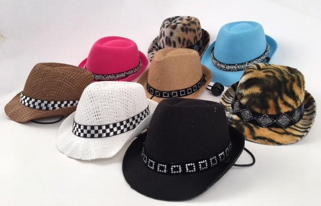 PAMPET / Puppe Love Dog Hat, Felt Fedora Leopard