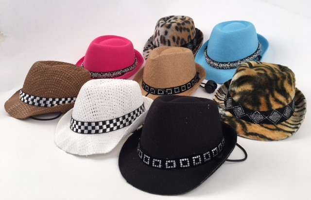 PAMPET / Puppe Love Dog Hat, Felt Fedora Black