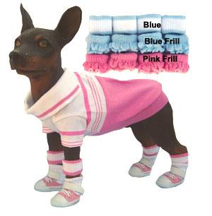 PAMPET / Puppe Love Dog Anklets, Blue Stripe