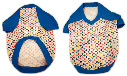 PAMPET / Puppe Love Dog T-Shirt, LV Blue, Size 5
