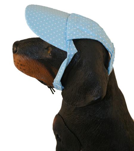 PAMPET / Puppe Love Dog Hat, Polka Dot Cap Blue, Medium