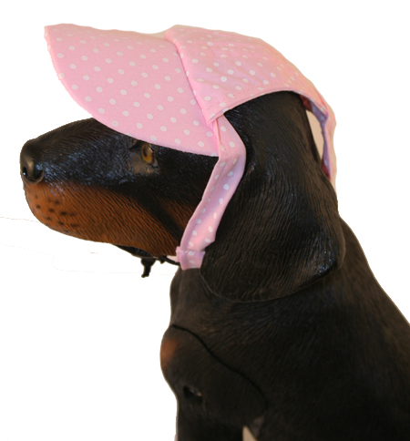 PAMPET / Puppe Love Dog Hat, Polka Dot Cap Pink, X-Small