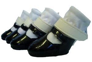 PAMPET / Puppe Love Dog Shoes, Mary Jane Black, Size 1