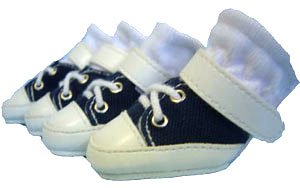 PAMPET / Puppe Love Dog Shoes, Sneakers Blue, Size 0