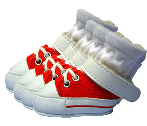 PAMPET / Puppe Love Dog Shoes, Sneakers Red, Size 0