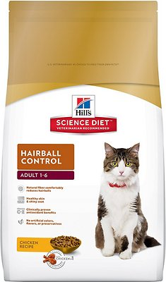 Hill's Science Diet Adult Hairball Control Dry Cat Food, 3.5-lb bag