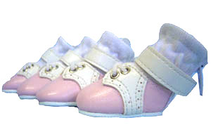 PAMPET / Puppe Love Dog Shoes, Saddle Shoes Pink, Size 0