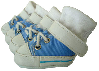 PAMPET / Puppe Love Dog Shoes, Sneakers Baby Blue, Size 0