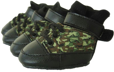 PAMPET / Puppe Love Dog Shoes, Sneakers Camo, Size 0