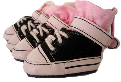 PAMPET / Puppe Love Dog Shoes, Sneakers Black & Pink, Size 0