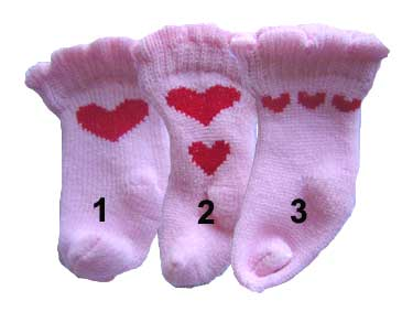 PAMPET / Puppe Love Dog Socks, Heart Pink, Medium
