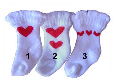 PAMPET / Puppe Love Dog Socks, Heart White, Medium