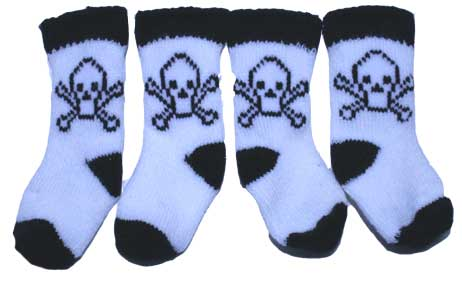 PAMPET / Puppe Love Dog Socks, Skull, Small