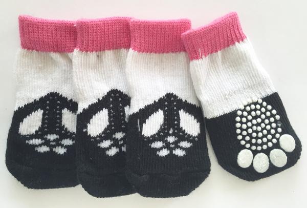 PAMPET / Puppe Love Dog Socks, Non Slip Mary Jane, Small