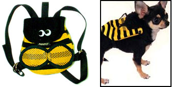 PAMPET / Puppe Love Dog Backpack, Bee, Large