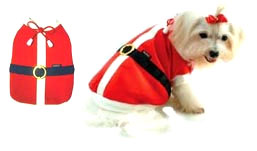 PAMPET / Puppe Love Dog Costume, Santa Summer, Size 0