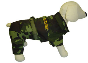 PAMPET / Puppe Love Dog Jumper, Army Camo, Size 2