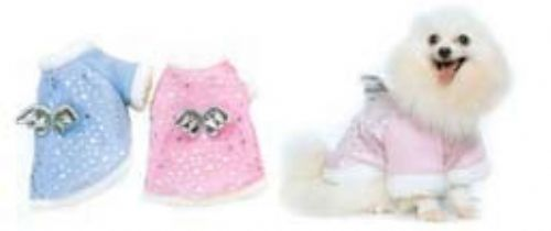PAMPET / Puppe Love Dog Coat, Sweet Angel Blue, Size 2