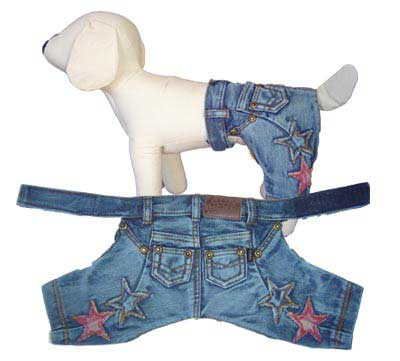 PAMPET / Puppe Love Dog Pants, Denim Stars, Size 3