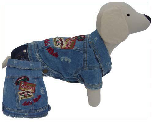 PAMPET / Puppe Love Dog Jacket, Denim Let's Ride, Size 0