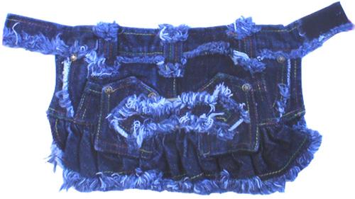 PAMPET / Puppe Love Dog Skirt, Denim Distressed, Size 0