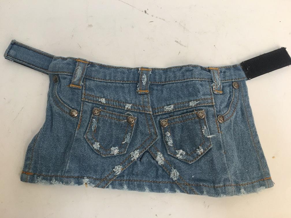 PAMPET / Puppe Love Dog Skirt, Denim Stonewashed, Size 3
