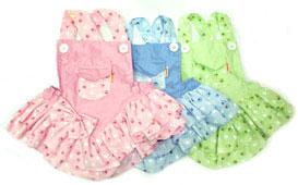 PAMPET / Puppe Love Dog Dress, Mini Pocket Paw Printed Pink, Size 5