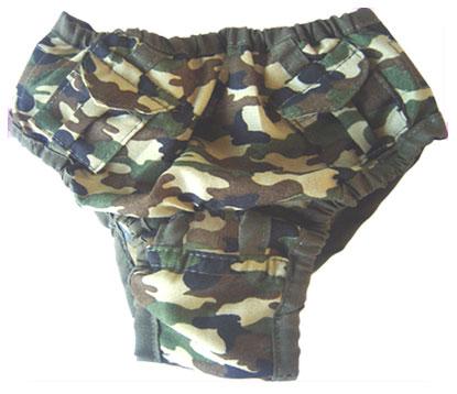 PAMPET / Puppe Love Dog Pants, Camo Pocket, Size 2