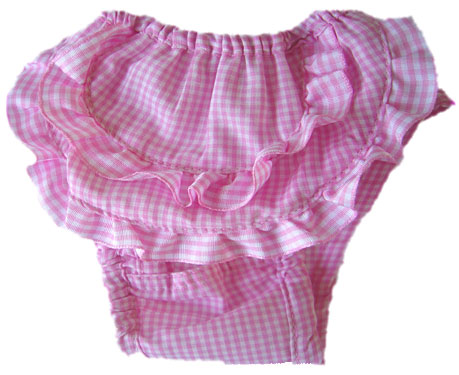 PAMPET / Puppe Love Dog Pants, Pink Check, Size 0