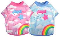 PAMPET / Puppe Love Dog T-Shirt, Angel Rainbow (Cloud) Blue, Size 4