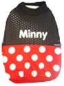 PAMPET / Puppe Love Dog Shirt, Sleeveless Mesh Minnie Mouse, Size 1