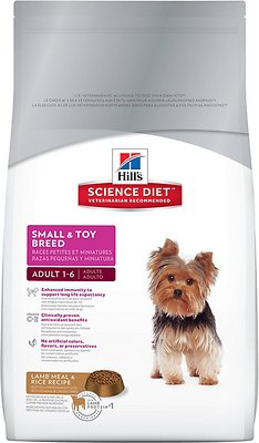 Hill's Science Diet Adult Small & Toy Breed Lamb Meal & Rice Recipe Dry Dog Food, 15.5-lb bag